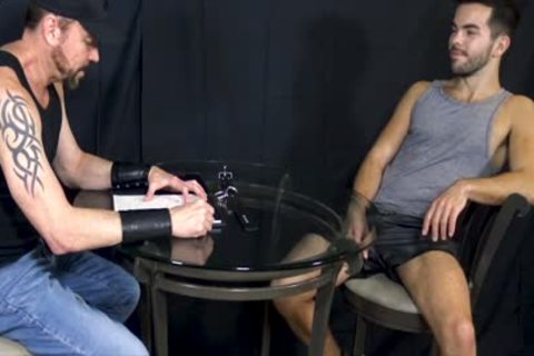 Bottom man Riley Ross Blindfolded And Face-drilled