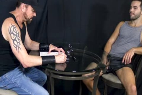 Bottom man Riley Ross Blindfolded And Face-poked