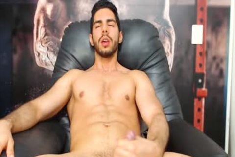 Aaron Clayton On Flirt4Free - Gaming Latino dude Strokes His Monster dong