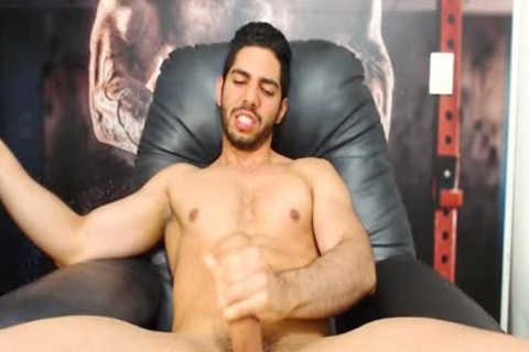 Aaron Clayton - Flirt4Free - Gaming Latino stud Strokes His Monster cock