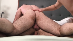 FamilyDick.com: Young Bishop Angus sexy dancing in the bed