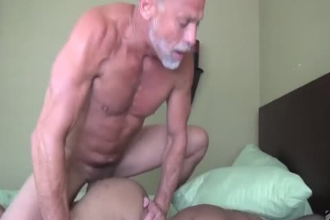 grandad pokes His Muscled darksome Toyboy
