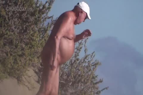 So Many lusty older men At The in nature's garb Beach!