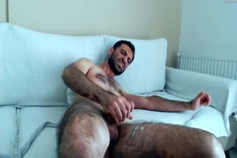 bushy Hunks jerking off On cam