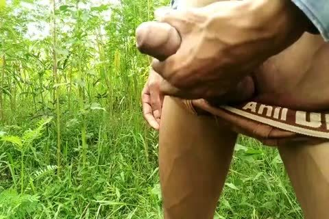 Outdoor Masturbation With ball cream flow-indian cook jerking