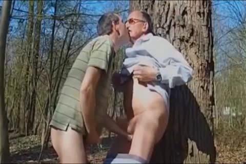 DADDY nailing grandad IN THE WOODS three