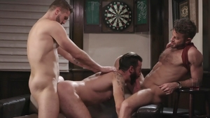 IconMale: American Brendan Patrick with Link Parker threesome