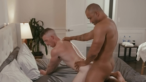 Noir Male - Gay Nick Fitt blowjob cum