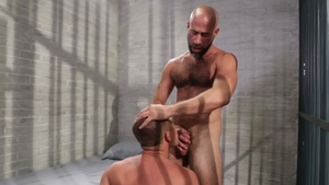 IconMale.com: Damon Andros plus hairy Brandon Wilde anal porn