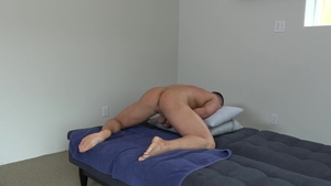 Next Door Casting - Muscled Dean Hughes getting a facial scene