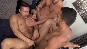 Extra Big Dicks: Pierced Seth Santoro butt fucking threeway