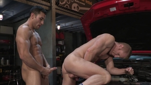 HotHouse: Muscled Johnny V masturbation in a truck