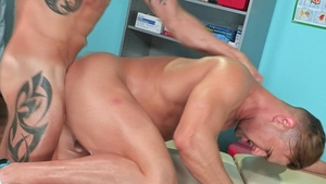 Hot House: Hairy Josh Conners demonstrates huge cock
