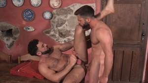 HotHouse - Awesome Abraham Al Malek kissing each other