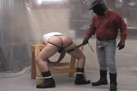 Masked dom undressed ploughs his subordinate